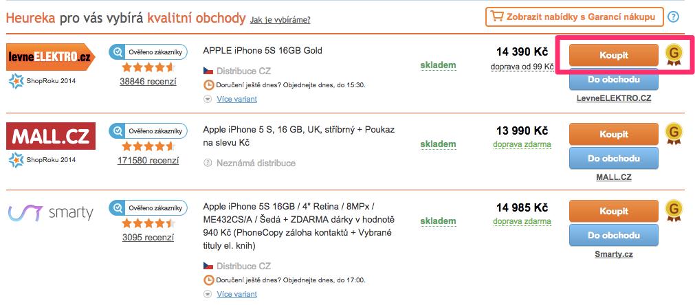 9935674dc Heureka teda zákazníkom garantuje iba nákupy, ktoré sú urobené priamo cez  náš Košík (nie cez PPC po prekliku do e-shopu).