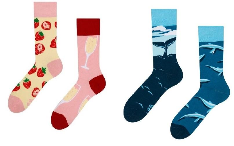 Barevné ponožky s oblíbenými potisky