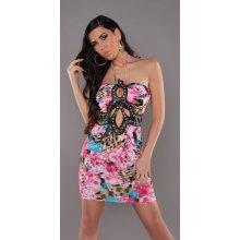 381205e01a53 KouCla dámské barevné mini šaty 2040 růžová
