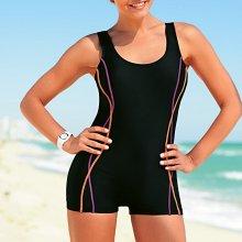 Blancheporte Jednodílné plavky s nohavičkami černá