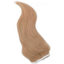 Zlatavé blond vlasy k prodloužení - Tape in REMY proužky, 50 cm (022), 20 ks