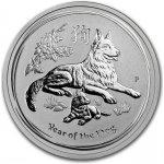 Lunární série II. stříbrná mince 0,5 AUD Year of the Dog Rok psa 1 2 Oz 2018