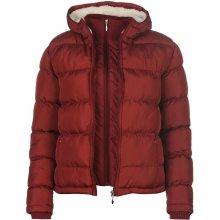 Lee Cooper 2 Zip Bubble Jacket dámské Berry červená