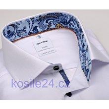 Olymp Luxor Comfort Fit Bílá košile s jemnou strukturou a vnitřním límcem d71b4138b1