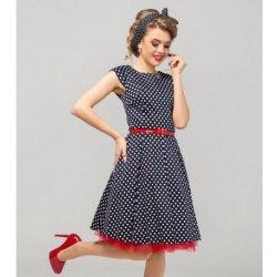 6cb0995ea5bf Gotta retro šaty Erica s puntíky GS14 černobílá černá alternativy ...