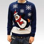 Pánský vánoční svetr Penguin tmavě modrý · 999 Kč c066f86846