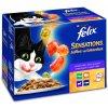 Felix Sensations výběr v ochuceném želé s jehněčím makrelou treskou a krůtou 12 x 100 g