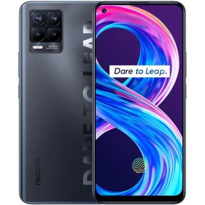 """Realme 8 Pro černý Mobilní telefon, Dual SIM, Octa core 2,3GHz, 8GB RAM, 128GB, LTE, 6,4"""" Full HD+, foto zadní 108+8+2+2Mpx, foto přední 16Mpx, Android 11, černý RMX3081BK"""
