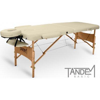 Tandem Basic-2 skládací masážní lehátko krémová 195 x 70 cm 13,1 kg 7 barev