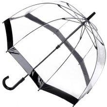 Fulton Dámský průhledný holový deštník Birdcage 1 Black L041-1 mFU0005