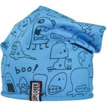 Bexa Chlapecká prodloužená čepice s příšerkami Buka modrá