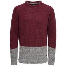 ONLY SONS Pánský svetr Bole Naps Knit Cabernet 4dd1bd62c6