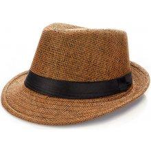 Slaměný klobouk pánský brown 1667-5