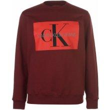 Calvin Klein Jeans Mono Crew Sweater Tawny Port