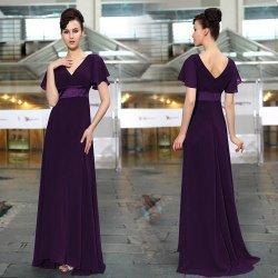 fc1371faae94 Dlouhé šaty společenské s rukávem na svatbu ples fialová od 2 000 Kč ...