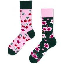 Many Mornings Barevné ponožky Cherry Blossom f199c36c67