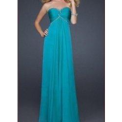 Tyrkysově modré dlouhé plesové společenské svatební šifonové šaty luxusní 09ed0a9d75