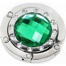 Háček na kabelku kulatý - Zelený