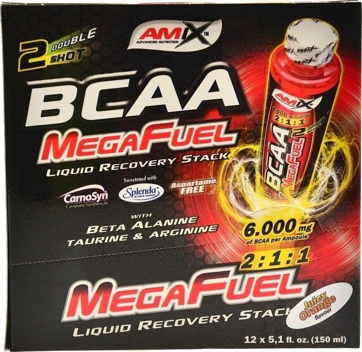 Výsledek obrázku pro Amix BCAA MegaFuel 6000 12x150 ml