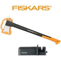 Fiskars štípací X21 + ostřič Solid - SET 122473 a 120005