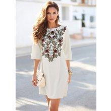 Venca Krátké šaty s potiskem květin režná