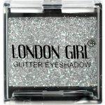 LONDON GIRL Flitrové oční stíny Mono Stříbrné GLITTER Eyeshadow 10 4,5 g