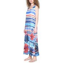 Desigual Maxi šaty Flora 18SWMW04 barevná fe6d63e6c04