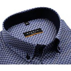 Pánská Košile Eterna Slim Fit Stretch Non Iron – modro-bílá košile s  šachovnicovým vzorem a1759b70cd