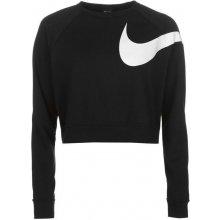 Nike Swoosh Crop Crew Sweater Ladies Black