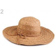 Dámský klobouk / slamák hnědá přírodní