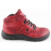 c5961088aedbc Kacper 4-1165 Dámské zimní kotníkové boty červené