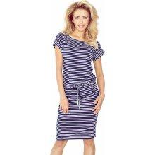 Numoco dámské sportovní pruhované šaty 139-1 modrá e5b73749d3