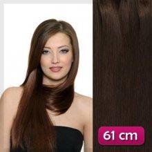 Clip in vlasy 61 cm - čokoládově hnědá 4