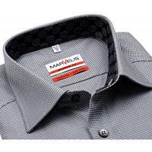 Marvelis Modern Fit – košile s šedo-bílým vetkaným vzorem a vnitřním límcem 39bf4445a1