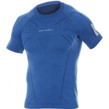 Brubeck Athletic Mens Short Sleeved Shirt SS11090 Dark Blue funkční triko