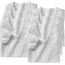 "Blancheporte Bílé spodní tričko s výstřihem do ""V"", sada 6 ks bílá"