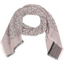 Calvin Klein pudrový šátek Monogram Jaquard 2d2271ab8d
