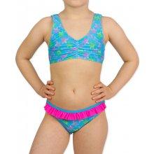 Acqua Dívčí dvoudílné plavky hvězdice Tyrkysová 335015e867