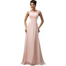 Grace Karin společenské šaty dlouhé CL007555-1 růžová 611b9a7d08