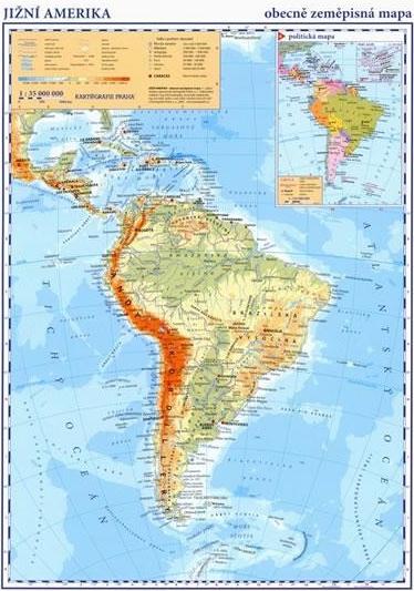 Specifikace Jizni Amerika Obecne Zemepisna Mapa Heureka Cz