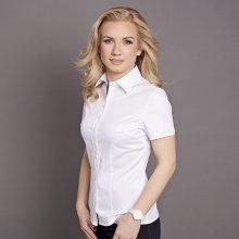Willsoor dámská bílá košile s krátkým rukávem