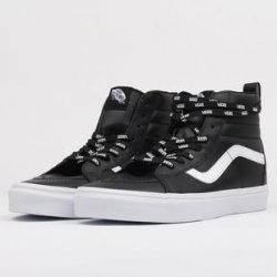 Skate boty Vans SK8 - Hi Reissue (otw webbing) black   leather 0583733ef1