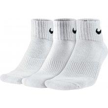 Nike ponožky 3PPK CUSHION QUARTER BÍLÁ