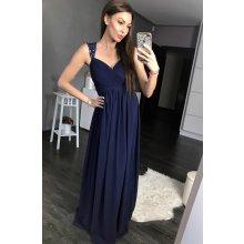 0531fbf19fbd Eva   Lola antické dlouhé šaty tmavě modrá
