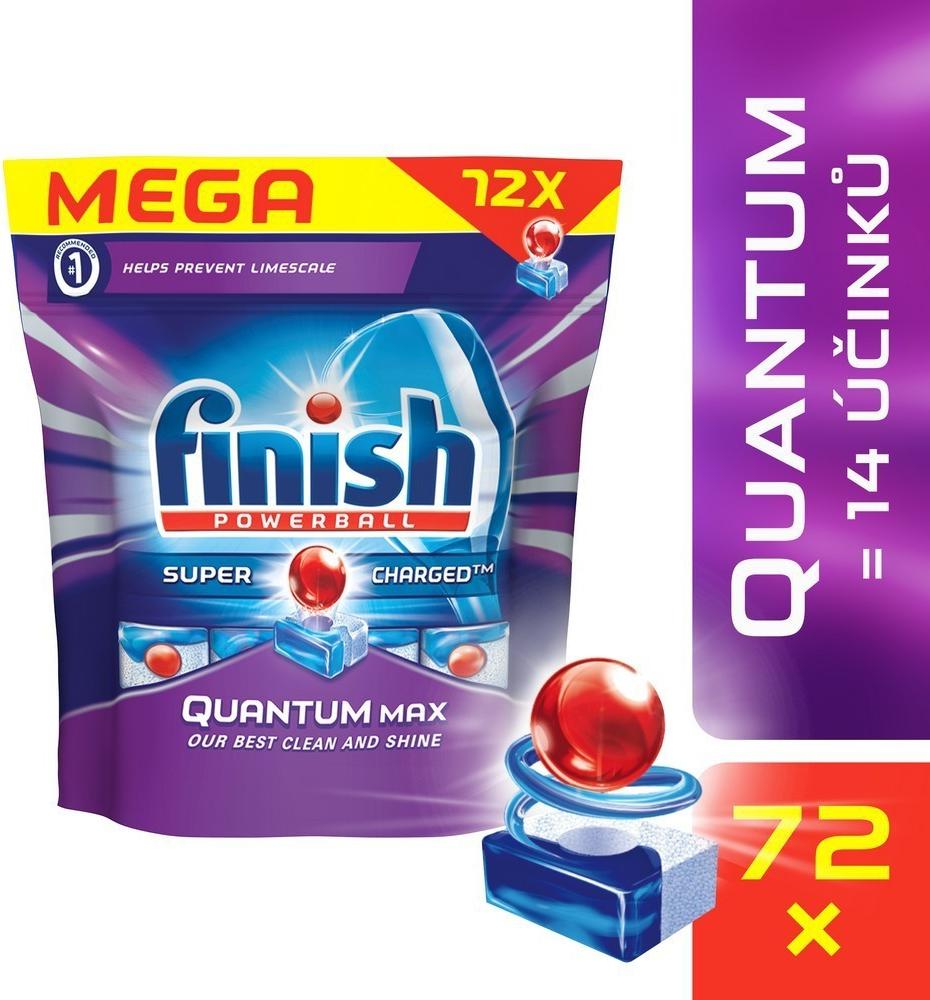 Calgonit Finish Powerball Quantum Max tablety do myčky 72 ks 1116 g
