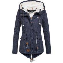 Hailys Nelle dámská zimní parka bunda puntík modrá