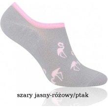 More dámské kotníkové ponožky Bamboo 153 mátová-květy d22d98d6f5