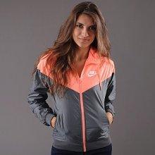 Nike Windrunner tmavě šedá neon oranžová
