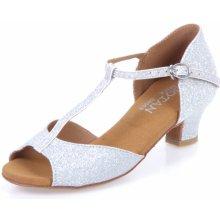 Botan dětské taneční boty BD-2 stříbrná 79d21fa692