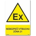 Traiva Bezpečnostní tabulka - Nebezpečí výbuchu zóna 21 Plast 297x210 mm